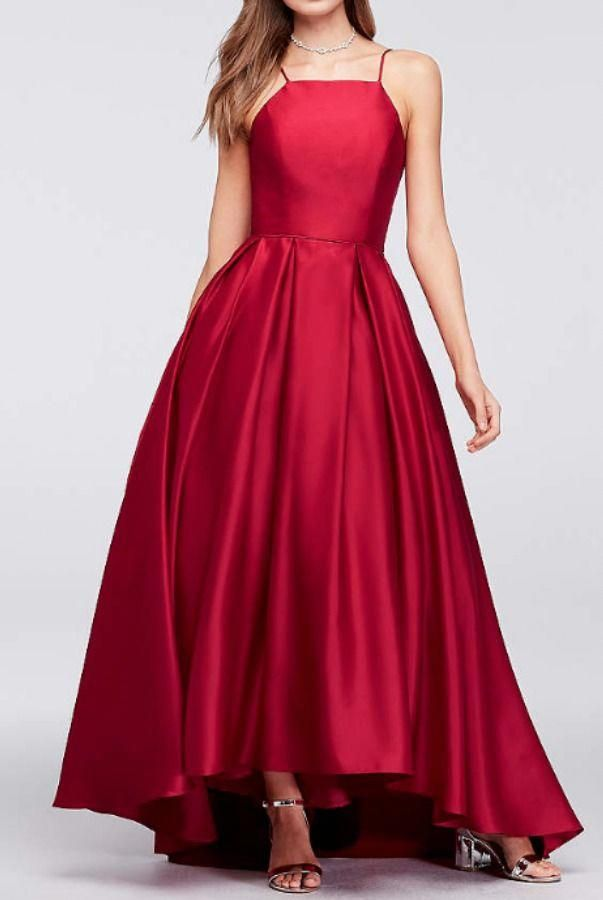 048994b4b8e Betsy and Adam Ruby Red Satin Ball Gown Dress Prom Formal