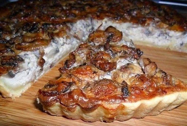 Грибной пирог на сметанном тесте Пышный вкусный пирог с ароматной начинкой и хрустящими краешками. Готовится очень быстро, так как тесту не нужно выста... - Учись готовить - Google+