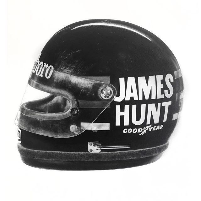 JAMES HUNT BELL HELMET, hyperrealistic painting by KAWCARS on Instagram