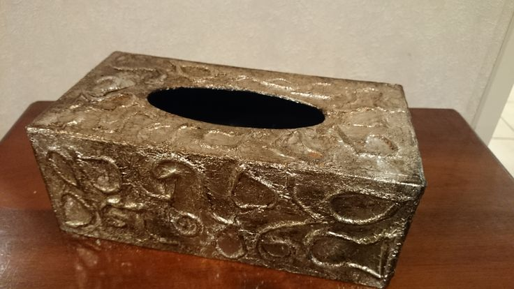 Forged Metal Look tissue box