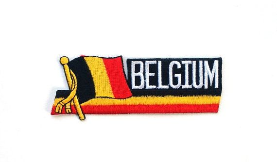 Belgium Flag Applique Iron on Patch by CraftRoomStorage on Etsy