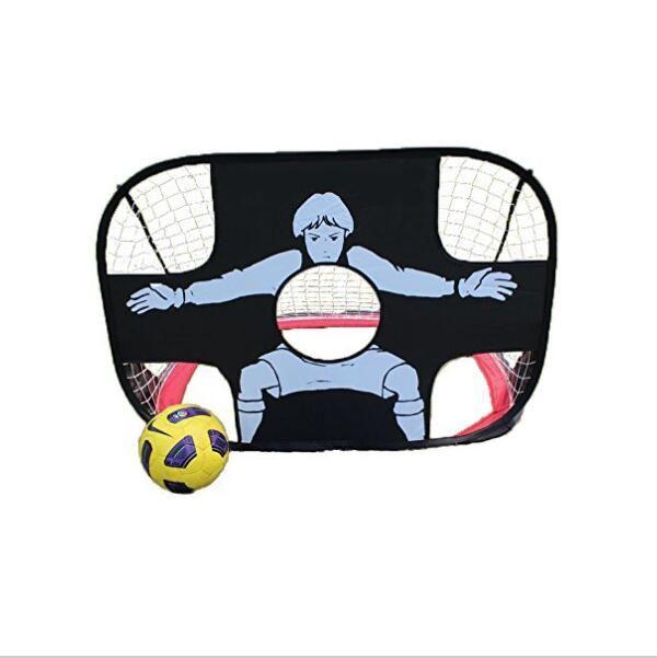 2 en 1 niños que entrenan a la portería de fútbol portátil plegable puerta de fútbol juego de pelota niño