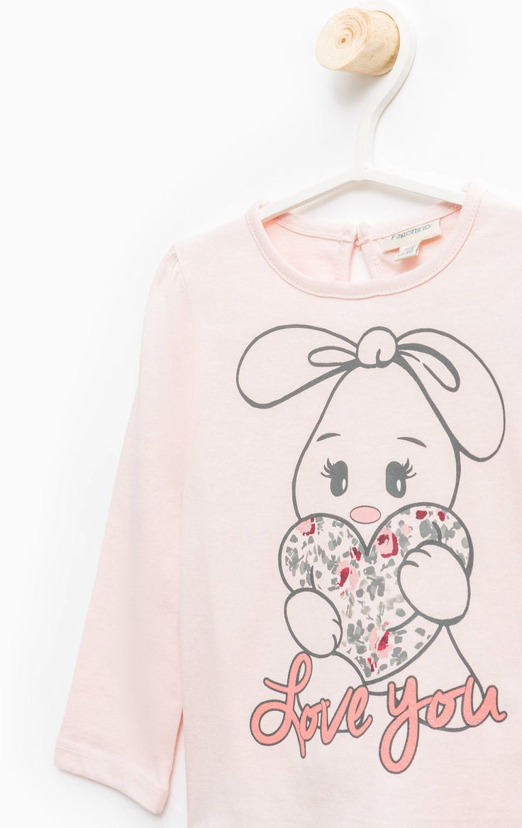 Long-sleeved, printed T-shirt, Light Pink