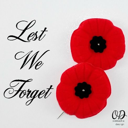 Lest We Forget Canadian Poppies for Remembrance Day Oombawka Design