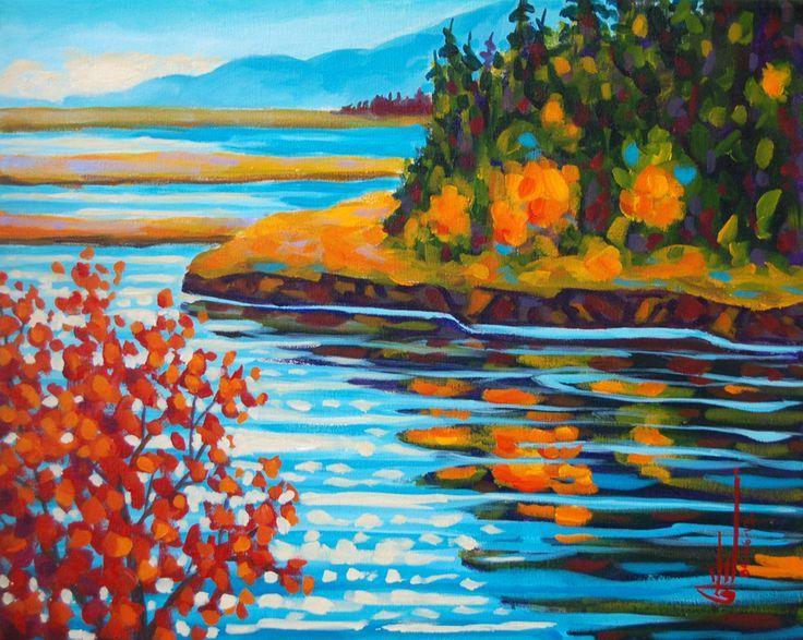 Le barachois en automne acrylique sur toile   16 x 20po.  2013
