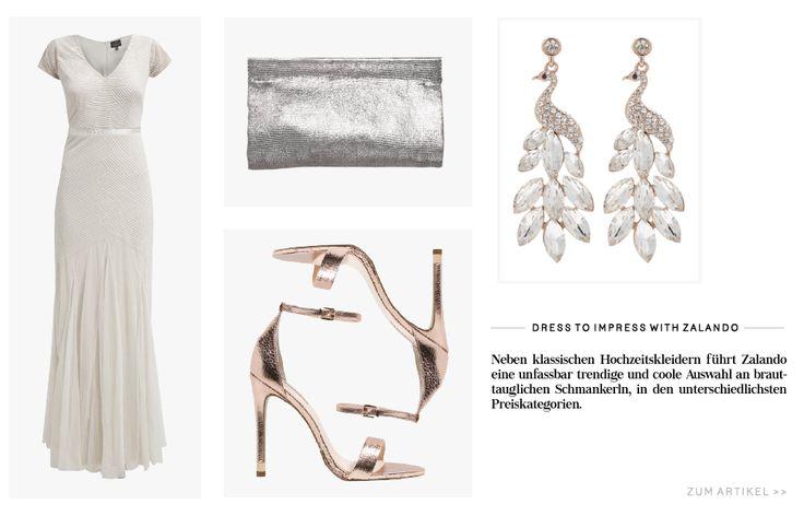 #Brautkleid #Zalando #Hochzeitskleid #Bridal #Adrianapapell #topshop #snöofsweden #abro #ohrringe #clutch #sandaletten #gold #silber