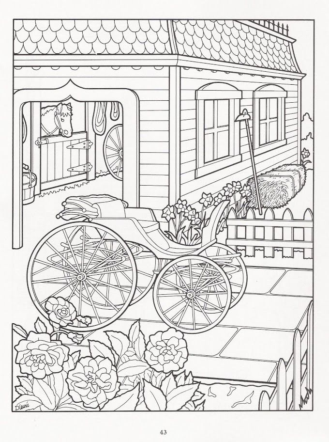 The victorian house coloring book art adult coloring for Debbie macomber coloring book pages