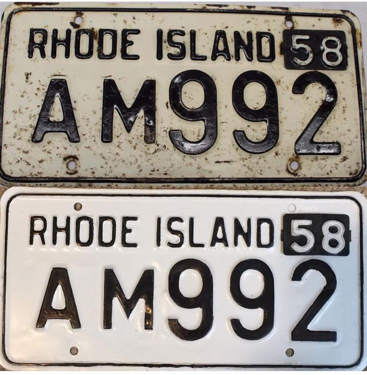 1958 License Plate Plate Collection and Restoration. 1958