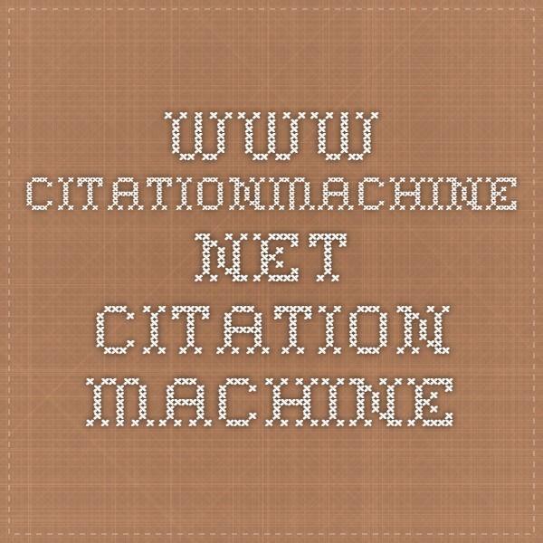 www.citationmachine.net - Citation Machine