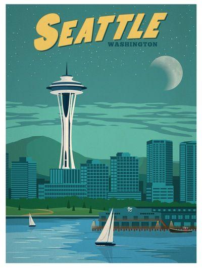 Image of Vintage Seattle Print