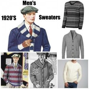 History of 1920s Mens Sweaters, Pullovers, Cardigans See: http://www.vintagedancer.com/1920s/1920s-mens-sweaters/  #greatgatsby # Great Gatsby #1920sfashion