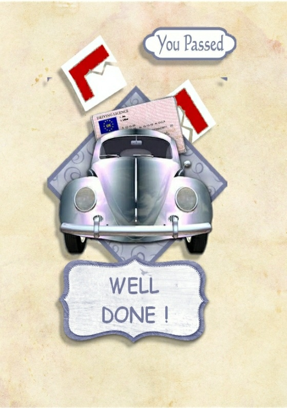 for James when he passed his driving test
