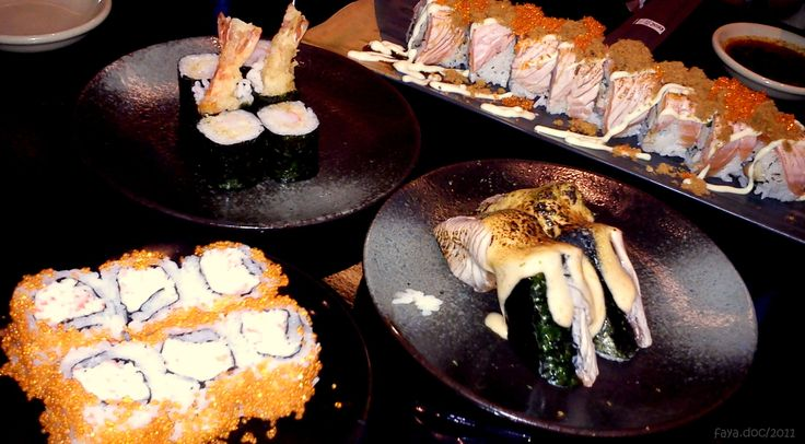 any kind of sushi roll at Sushi Tei