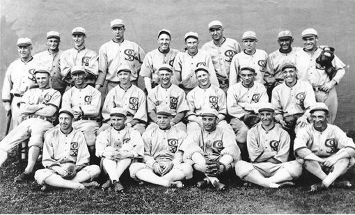 "The 1919 World Series, which featured the Chicago White Sox versus the Cincinnati Reds, resulted in the most famous scandal in baseball history.  Eight members of the White Sox were banned for life from baseball for throwing the World Series games, including the great ""Shoeless"" Joe Jackson http://www.clearbuck.com/about.htm"