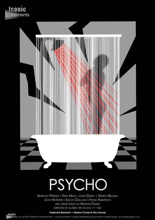 Iconic Moments Psycho Poster - Created by Steven Parry - www.stevenparry.net