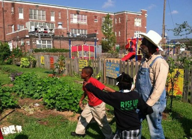 Students don't just eat great food in the FirstLine schools where this program runs, they also plant and harvest it, learn about its history and nutrition, and sometimes even cook it. That's right: the kids are lucky enough to have kitchen classrooms on select sites, allowing them to truly get hands-on in the process. Dishes at Edible NOLA schools include sweet potato soufflé, watermelon, feta and mint salad, and Mexican chopped salad. Photo Credit: Facebook/Edible Schoolyard New Orleans