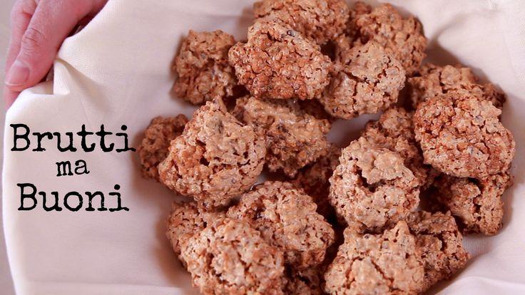 Brutti ma buoni, dolci alle nocciole tradizionali. Biscotti croccanti semplicissimi con solo tre ingredienti. Senza latte, senza burro, senza lievito.