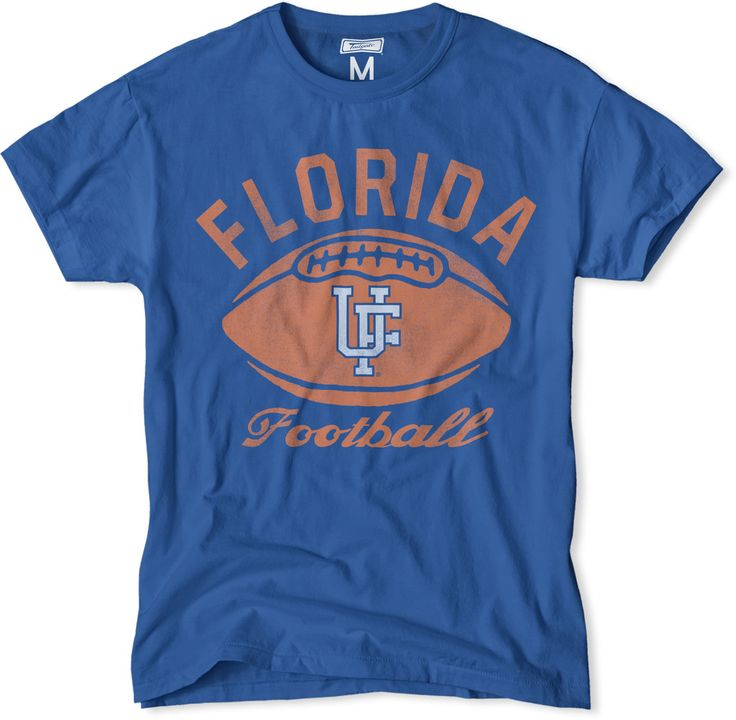 Go Gators! Vintage style and extreme comfort. Florida Gators Football T-Shirt in blue. On sale now for $24.99 (normally $34). Free shipping. #FloridaGators #Football