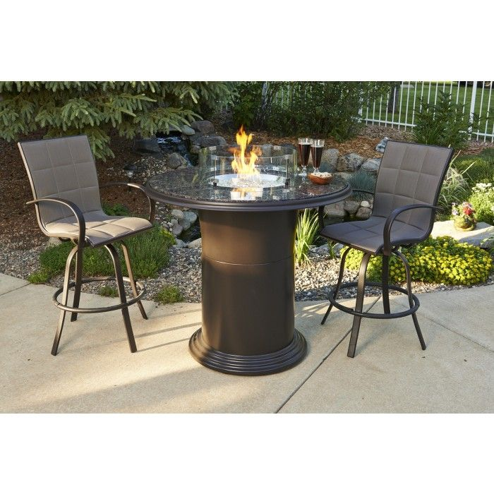 Grand Colonial Pub Height Fire Pit Table
