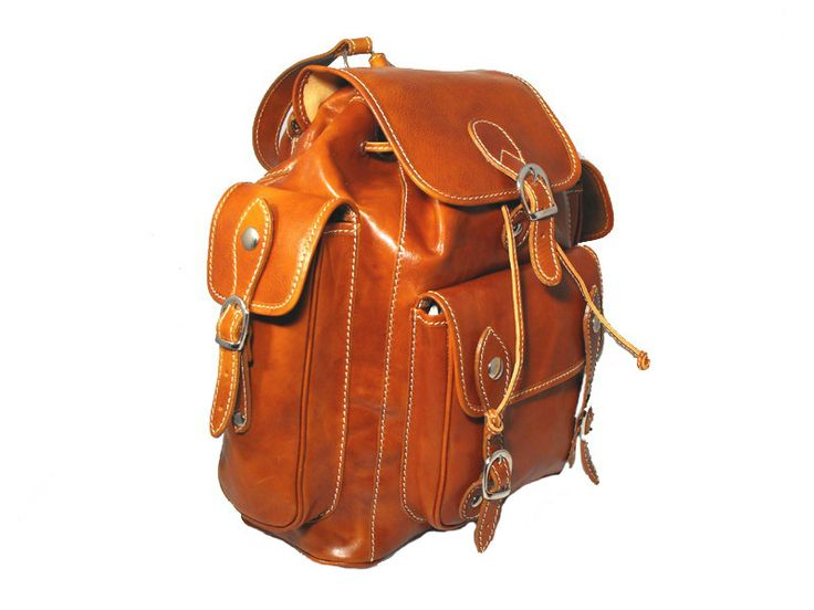Tuscan leather backpack made in Florence