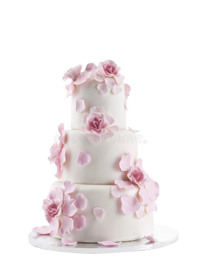 Photo about Wedding Cake Isolated On White Background. Image of ivory, love, marzipan - 18363199