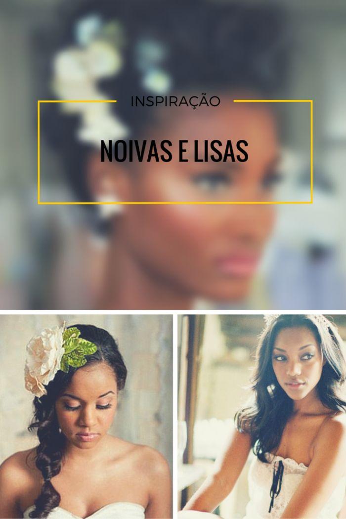 Noivas negras: penteados para casamento cabelo liso