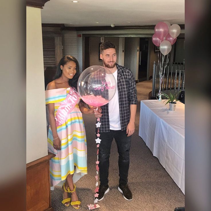 Beautiful interracial couple at their baby shower for their little princess #love #wmbw #bwwm #swirl #biracial #mixed #pregnancy #pregnant #lovingday