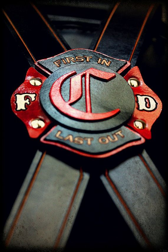 Custom Firefighter Suspenders by JBLeatherOutfitters on Etsy, $150.00