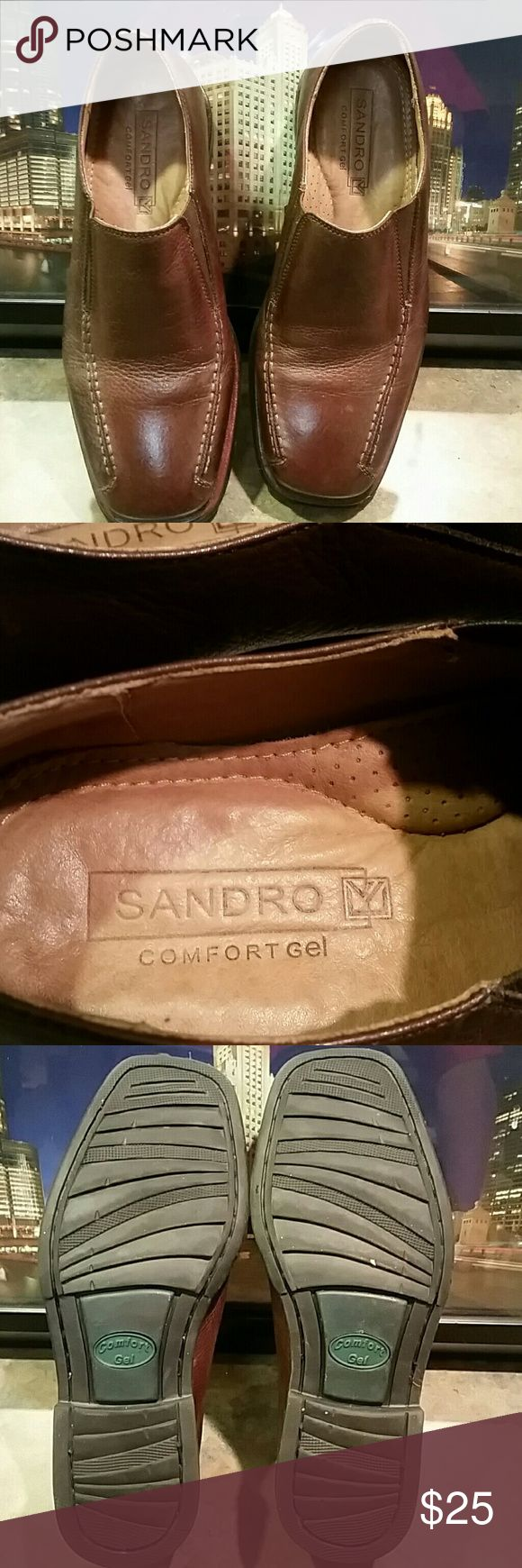 Leather Loafers  Shoes   8 D Brown leather  Loafers 5302 Sandro Moscoloni Shoes Loafers & Slip-Ons