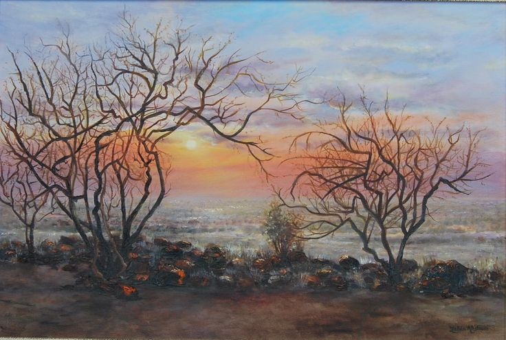 LAPPIES HILL by Zelda Alistoun paintings oil on canvas 900 x 600mm