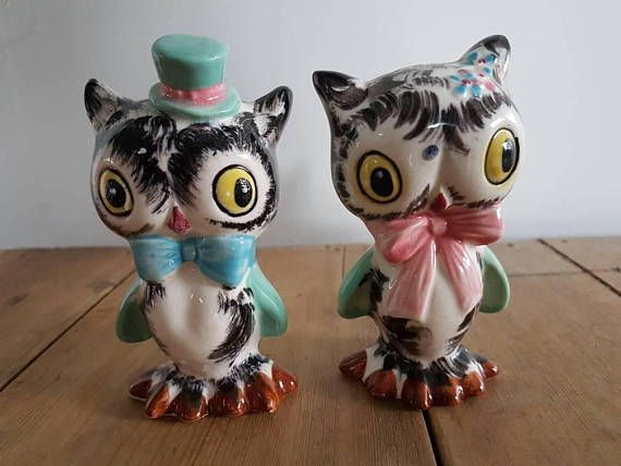 Check out this item in my Etsy shop https://www.etsy.com/au/listing/541624724/vintage-norcrest-owls-salt-and-pepper