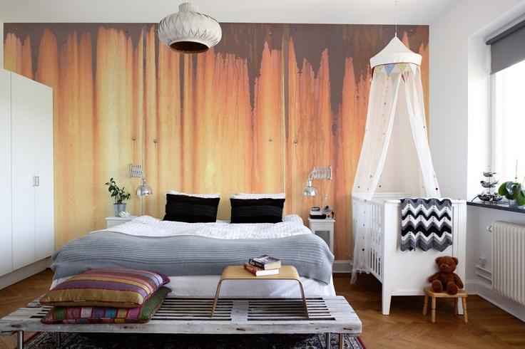 Metaalplaten die roesten... als muur-vullend behang exclusief  bij www.schoonewoonwensen.nl