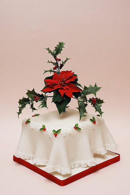 Christmas cake idea - For all your cake decorating supplies, please visit craftcompany.co.uk