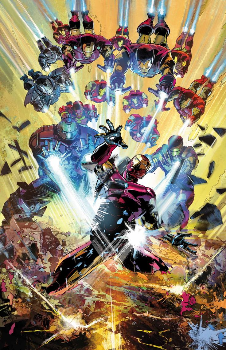 Invincible Iron-Man #7 (2016) Cover by Mike Deodato Jr.