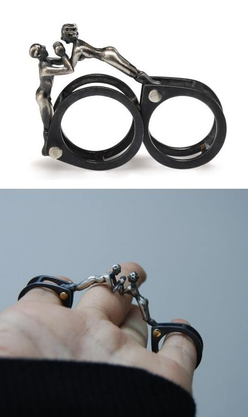Ring | Selda Okutan. 'Qu'est-ce que c'est?'  Sterling silver, partly oxidized.