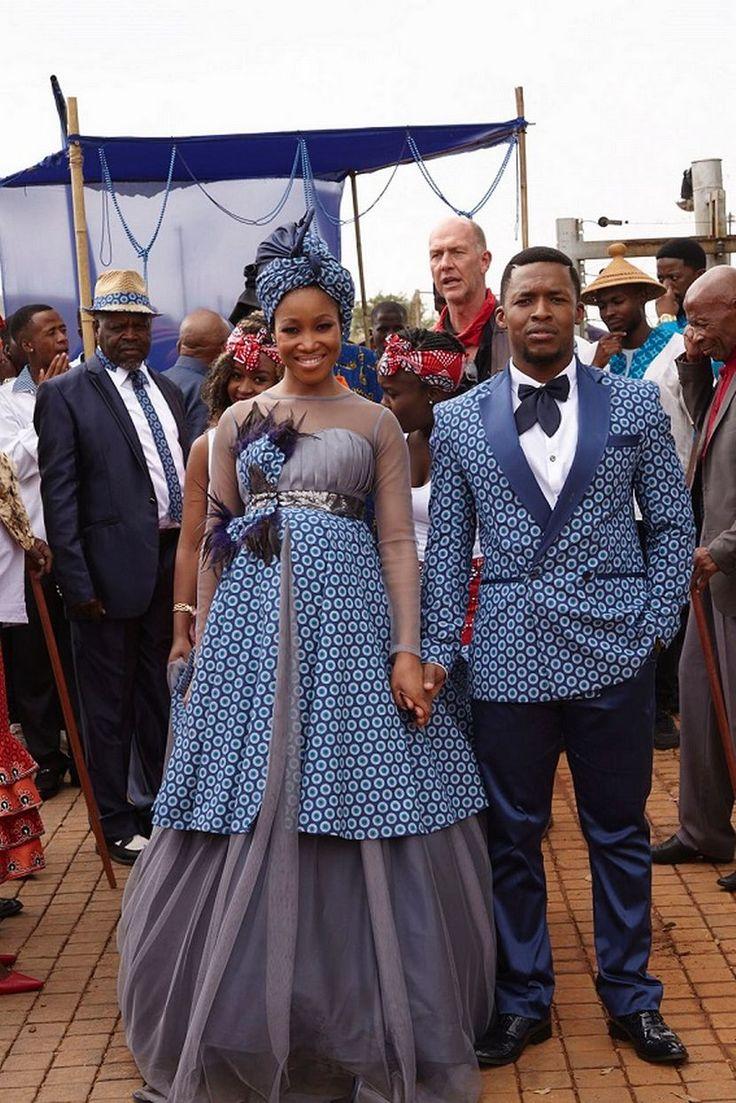 Ashes to Ashes Tsietsi and Mpho's Seshweshwe wedding (Photos) - Sowetan LIVE