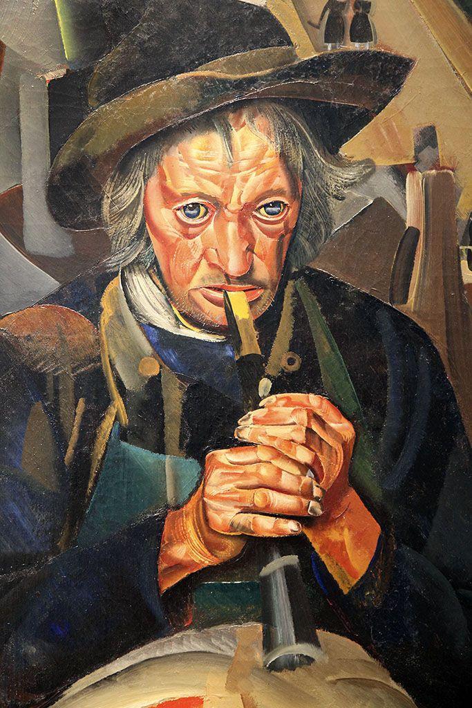 Борис Григорьев, Музыканты. 1924, х, м. SEUPHEROT Foundation, Швейцария. Фрагмент.