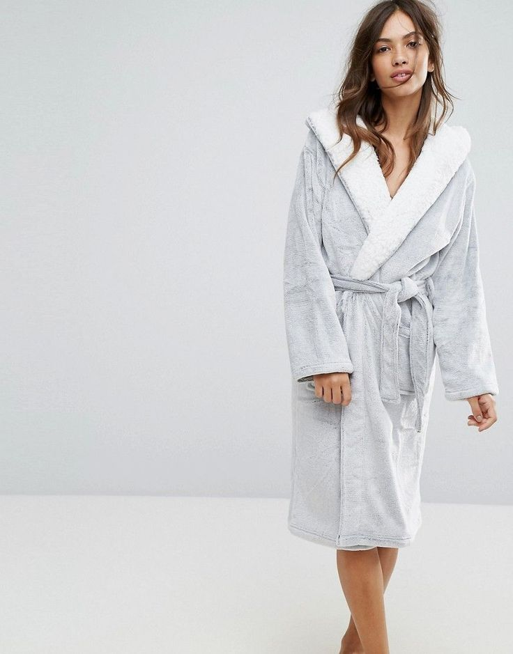 NEW LOOK FROSTED FLUFFY ROBE - GRAY. #newlook #cloth #