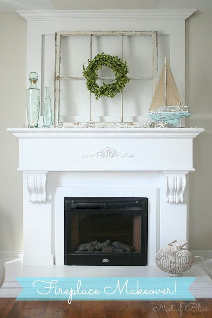 FireplaceMakeover - I think I may have already pinned this but I did it again because I love it so much!