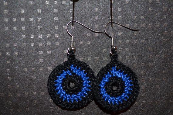 Crochet dangle earrings / Virkatut riippuvat roikkuvat korvakorut