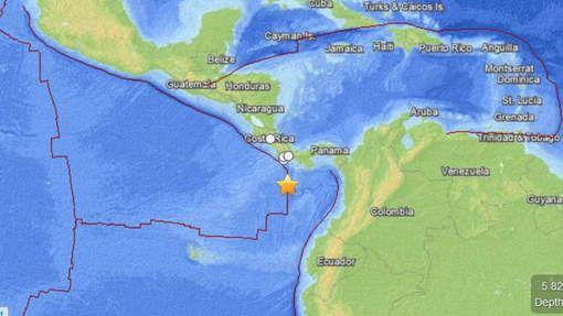 Aardbeving van 6,6 in het zuiden van Panama. -Bron: Het Laatste Nieuws. -Datum: 7 januari 2015.  -plaats: in het zuiden van Panama; ten zuiden van de stad Punta de Burica (Amerika)