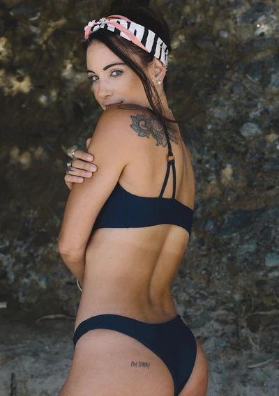 Aila Blue's signature swim bottoms for minimal coverage.  80% Nylon, 20% Spa…