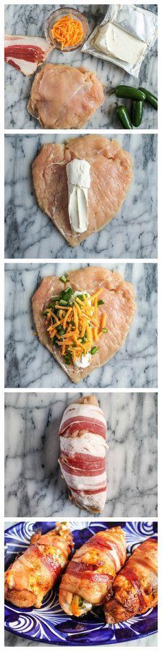 Bacon Wrapped Jalapeno Popper Chicken | #InspirationSpotlight