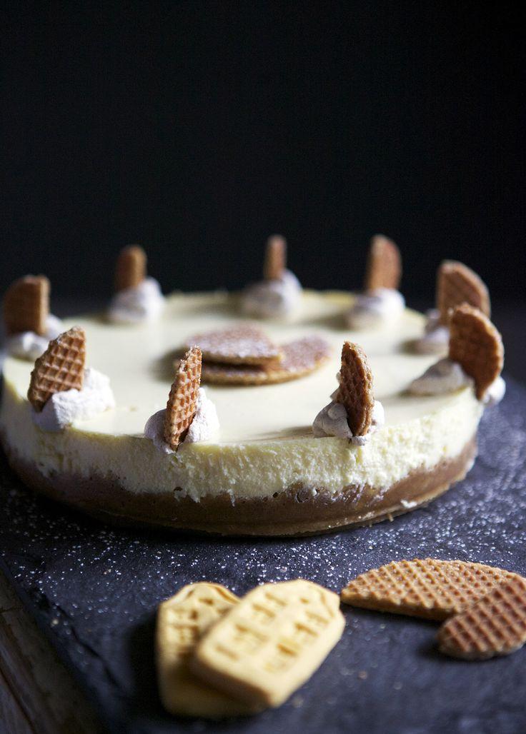 Dutch-inspired Stroopwaffel Cheesecake // Glazed & Confused