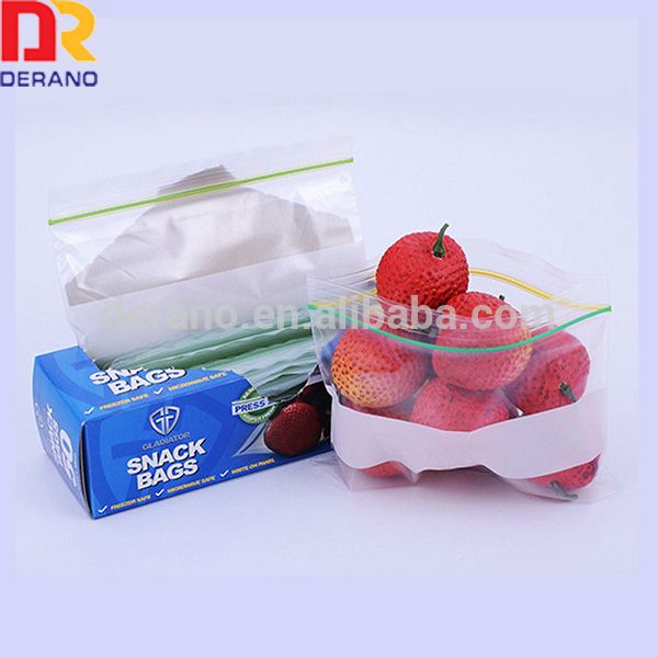Food Storage Bag are designed with a re-closable plastic zipper track. Consumers can easily close bags numerous times by pressing the zipper track.