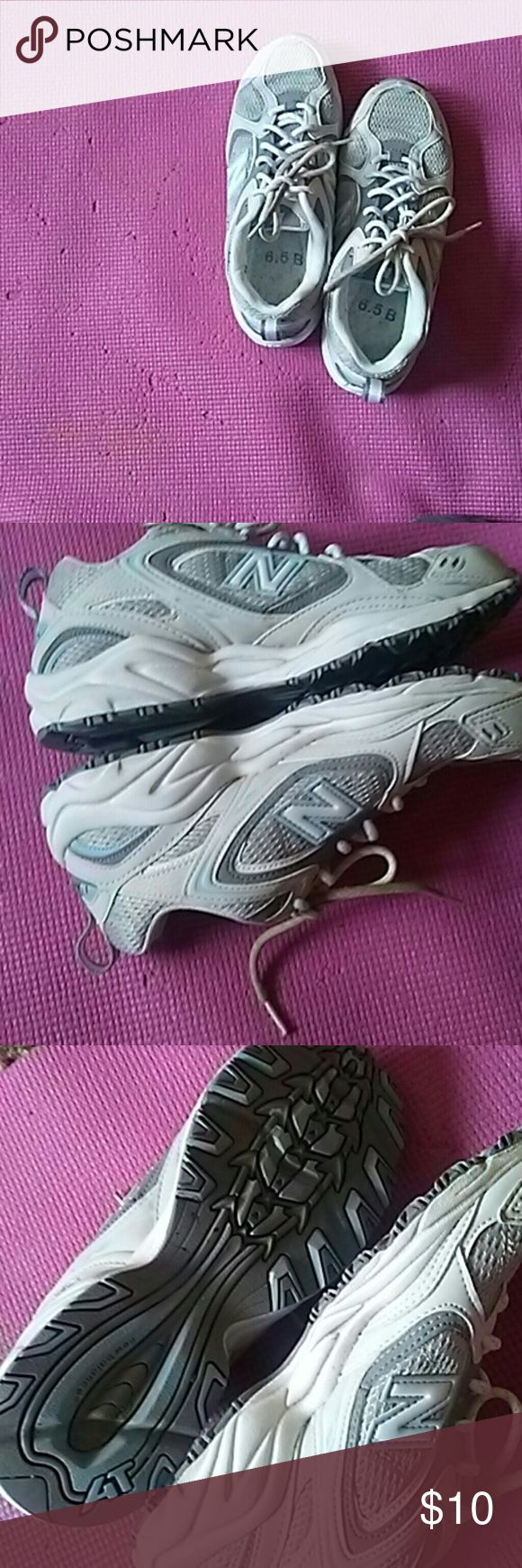 New balance sneakers These are ladies 6.5 sneakers without inserts good condition a little dirt on the laces but they have only been worn once New Balance Shoes Sneakers
