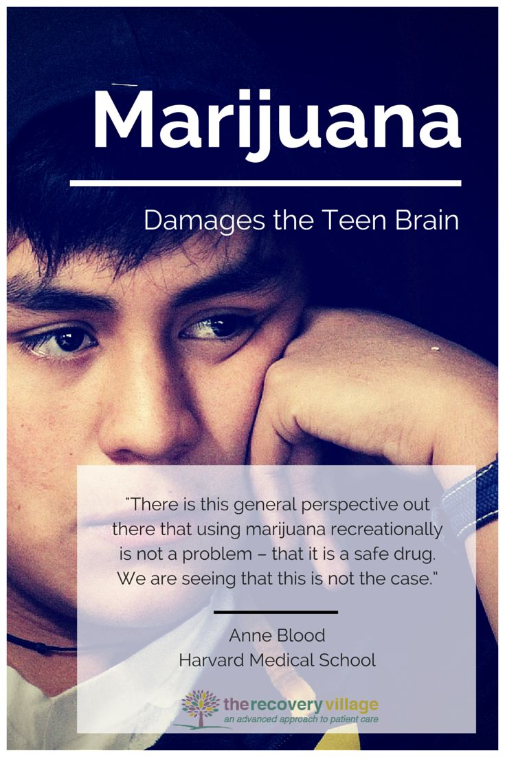 Marijuana Damages the Teen Brain, Says New Study. The Recovery Village, a full service Substance Abuse, Mental Health & Eating Disorder Treatment and Continuum of Care facility near Orlando, FL. (877) 798-6220