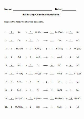 Balancing Equations Worksheet Answer Key Best Of 19 Sample ...