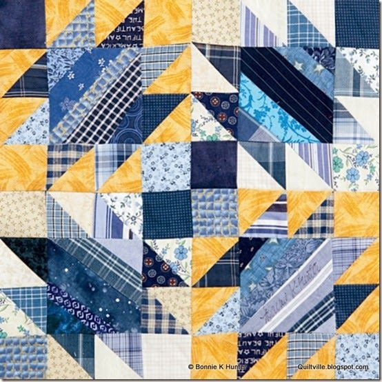 Something Blue. Bonnie Hunter's block for Quiltmaker Magazine's 100 Blocks, volume 10