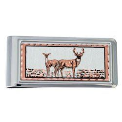 Deer Money Clip Rectangular